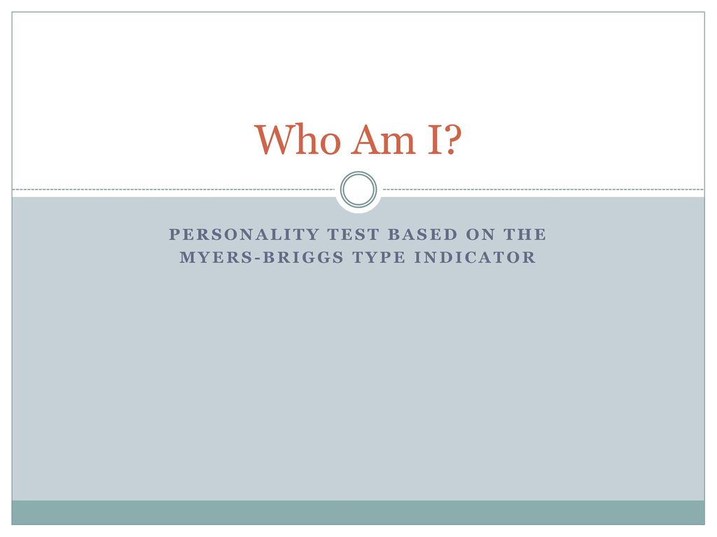 personality test myers briggs