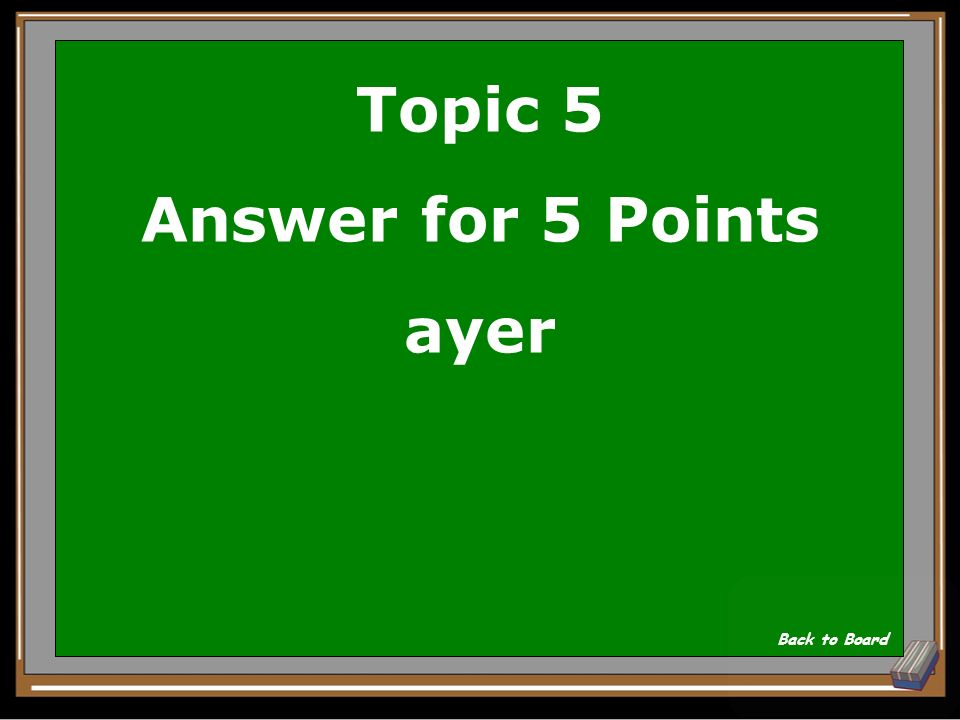 Topic 5 Answer for 5 Points ayer