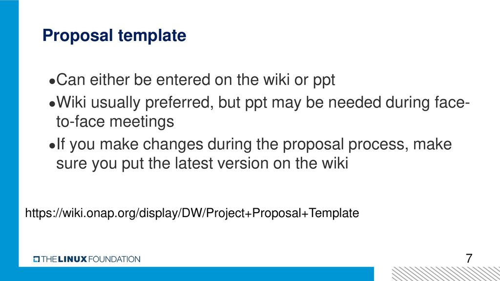 Onap Project Proposal Training Ppt Download