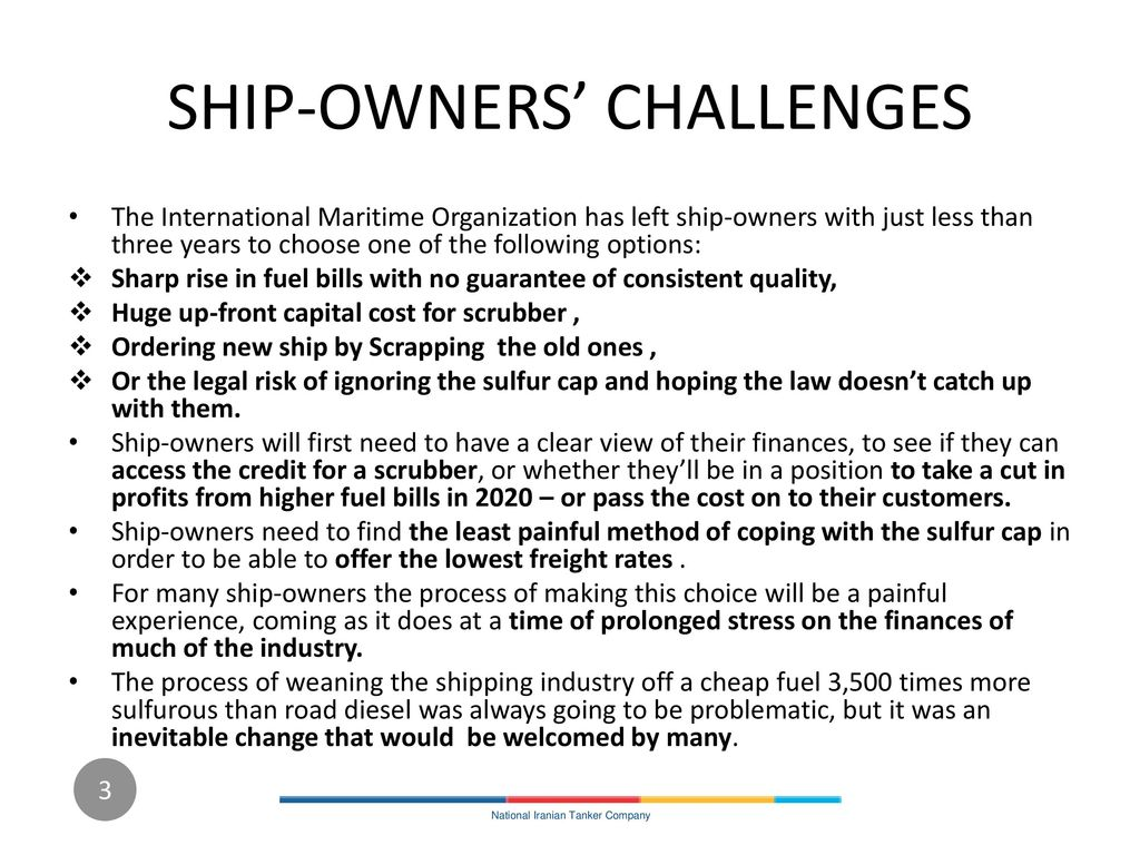SHIP-OWNERS' CHALLENGES