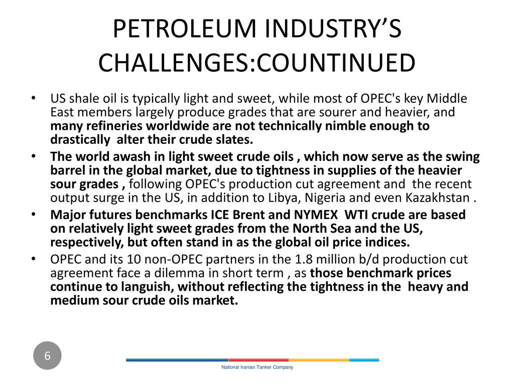 PETROLEUM INDUSTRY'S CHALLENGES:COUNTINUED
