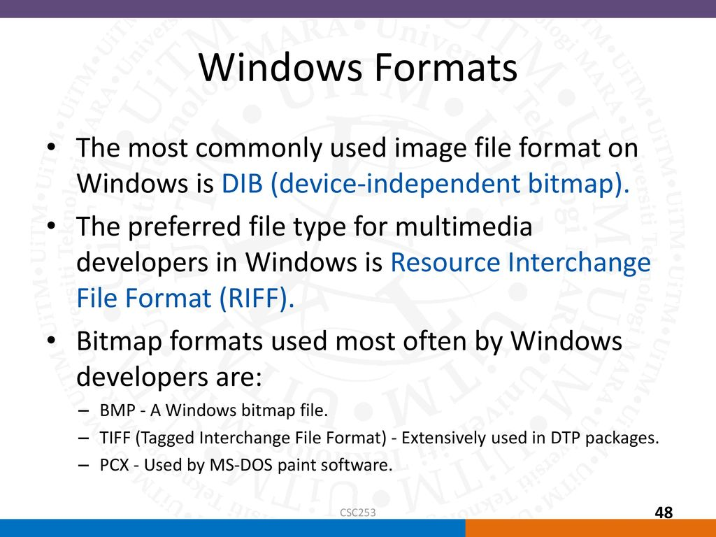 tiff tagged image file format are used for