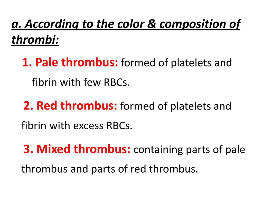 Mural Wall Thrombus Hemodynamic Disorders Disorders Of Blood Flow Ppt Download