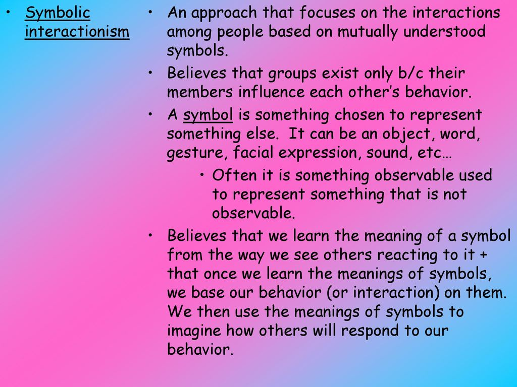Advantages and disadvantages of symbolic interactionism gallery advantages and disadvantages of symbolic interactionism gallery unit 1 sociological perspectives ppt download 14 symbolic interactionism buycottarizona