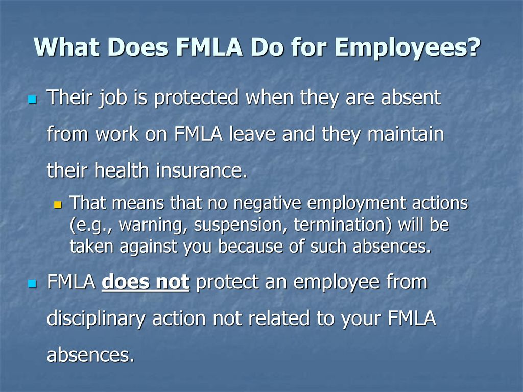 The family and medical leave act fmla ppt download what does fmla do for employees falaconquin