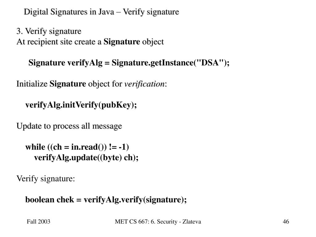 verify java verify