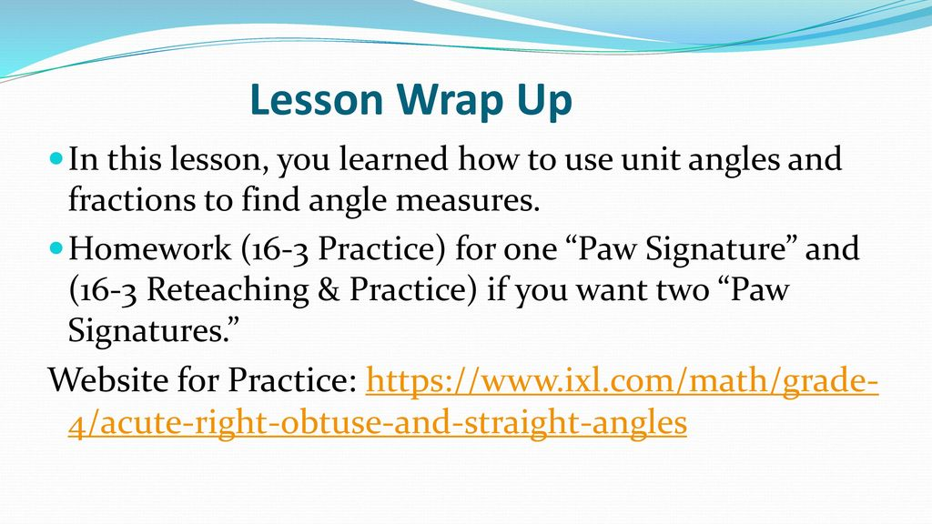 Understanding Angles and Unit Angles - ppt download
