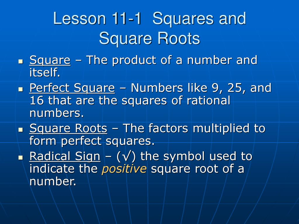 The symbol used to indicate a positive square root image geometry measuring two dimensional figures ppt download symbol used to indicate the positive square root of buycottarizona