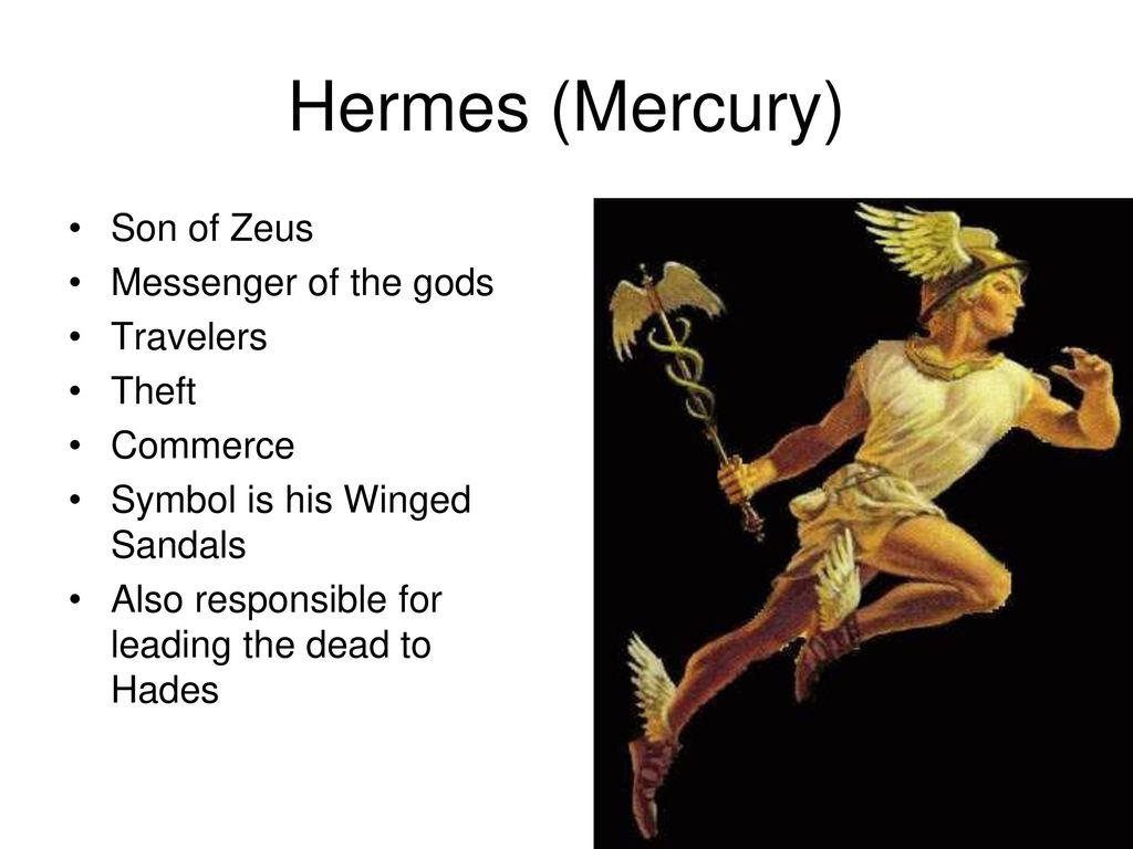 Greek mythology ppt download hermes mercury son of zeus messenger of the gods travelers theft biocorpaavc Images