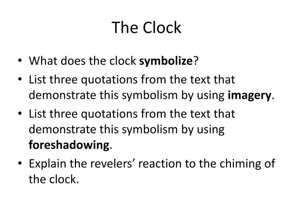 What does red symbolizes gallery symbol and sign ideas post reading the masque of the red death ppt download the clock what does the clock buycottarizona