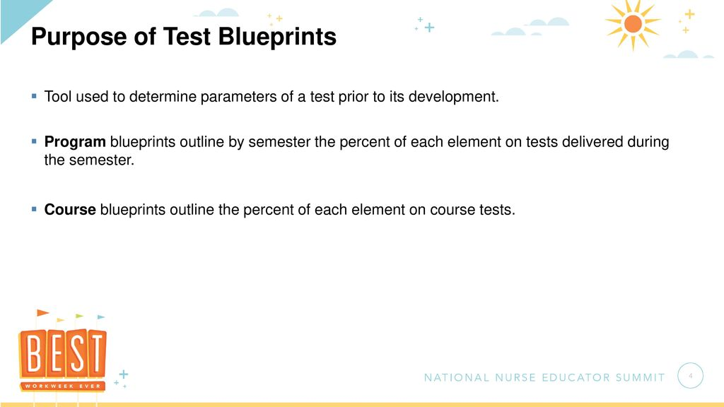 Test blueprinting for standard and concept based curricula ppt purpose of test blueprints malvernweather Image collections