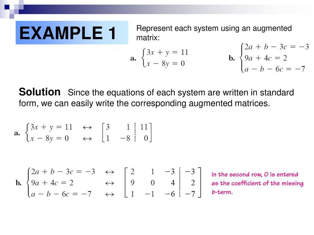Solving systems of equations using matrices ppt download 6 example falaconquin