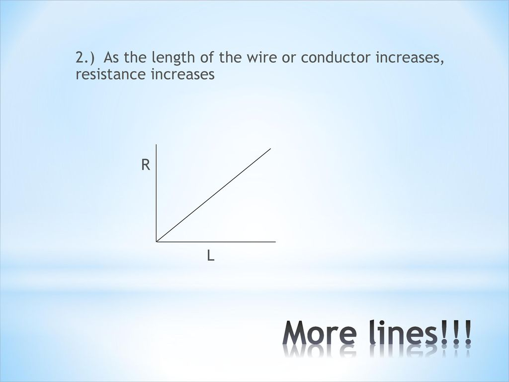 Unit 7 its electric ppt download as the length of the wire or conductor increases resistance increases greentooth Images