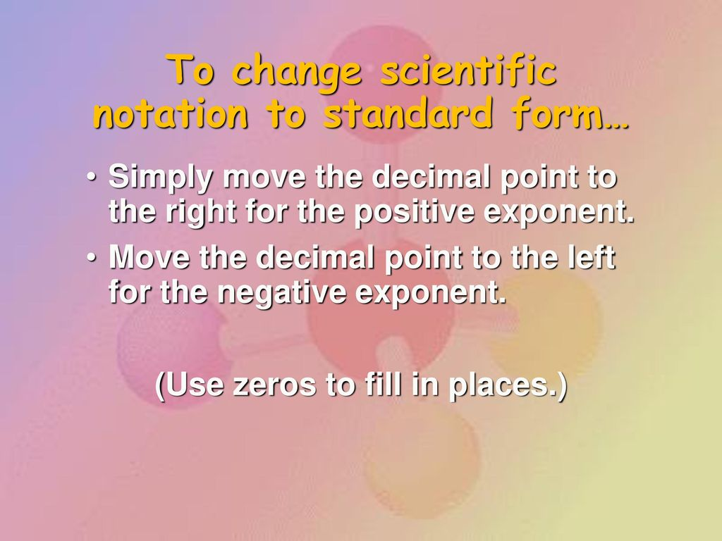 Measurements and calculations ppt download to change scientific notation to standard form falaconquin