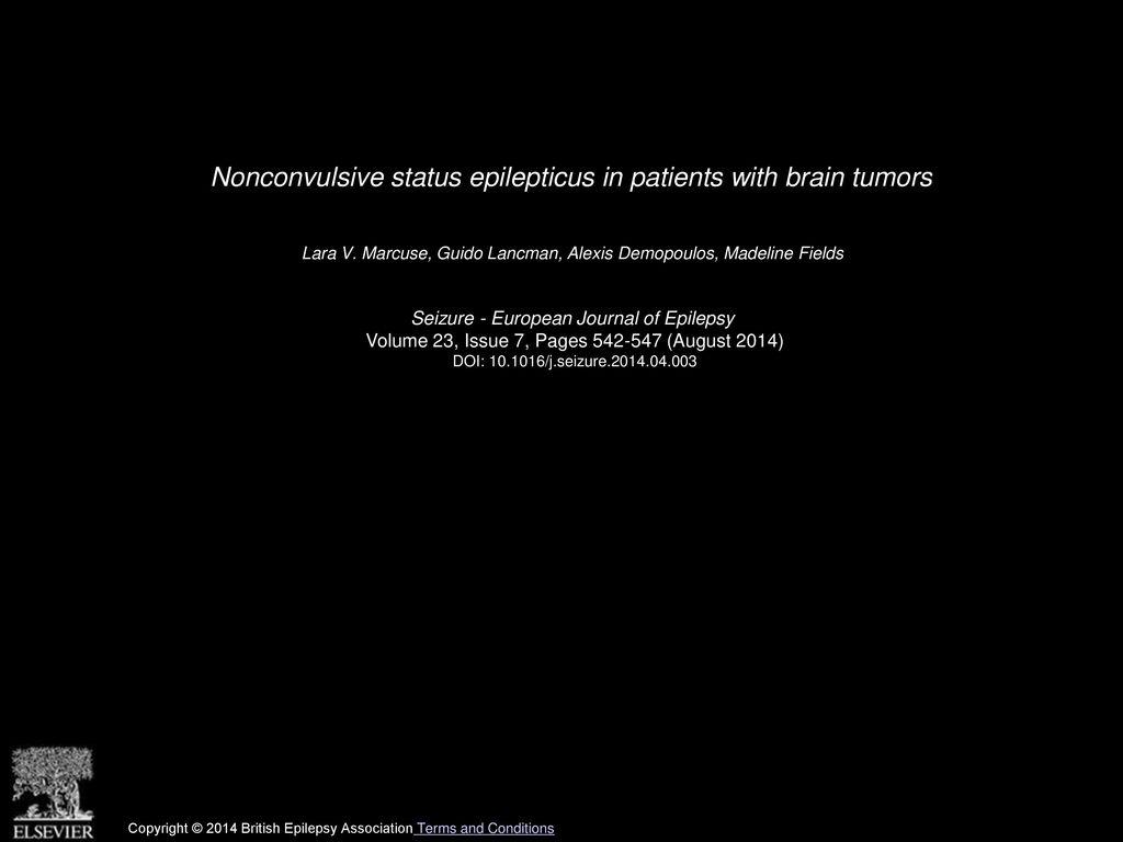 Nonconvulsive status epilepticus in patients with brain