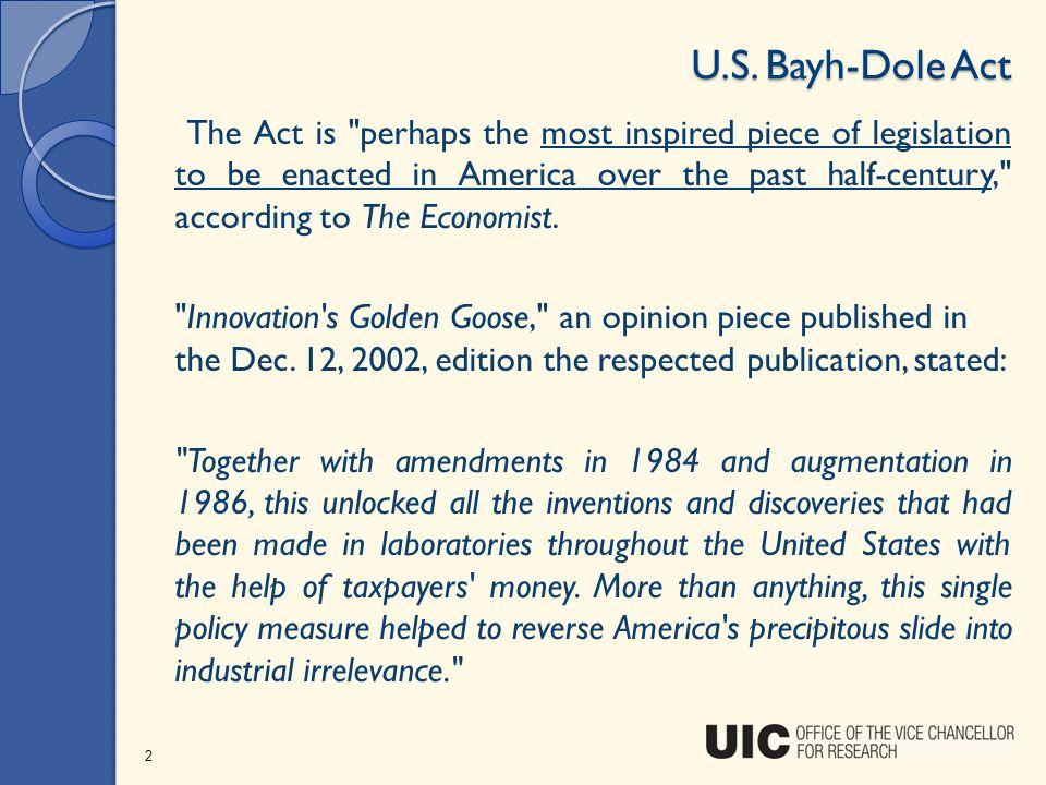 U.S. Bayh-Dole Act