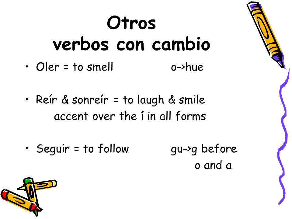 Otros verbos con cambio