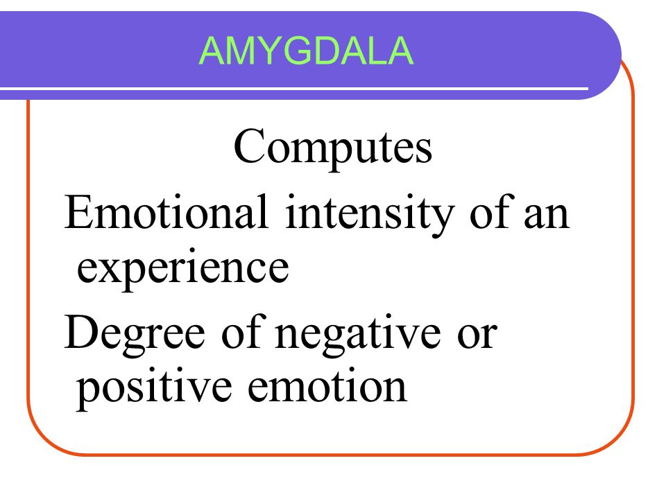 Emotional intensity of an experience