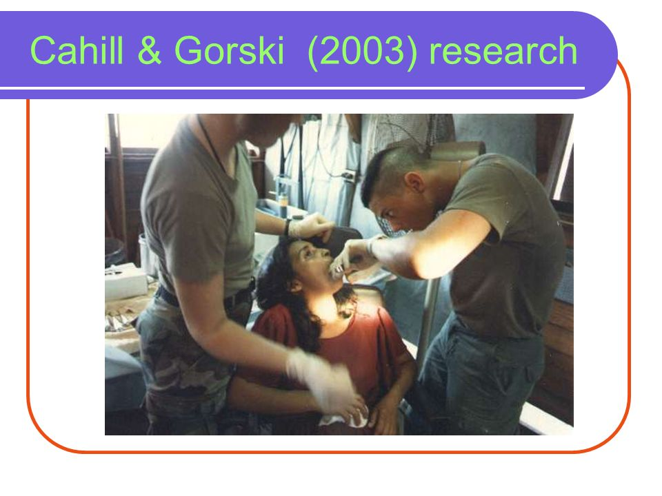 Cahill & Gorski (2003) research
