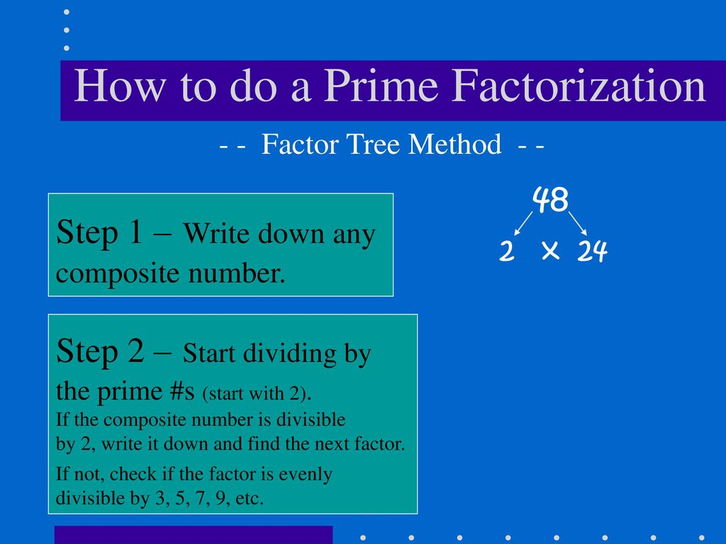 Factor Tree Method To Find 4th grade math place value