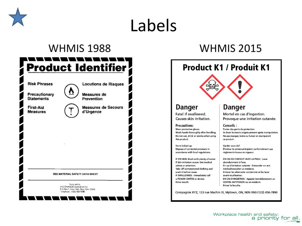 whmis workplace label template - whmis 2015 education for workers ppt download