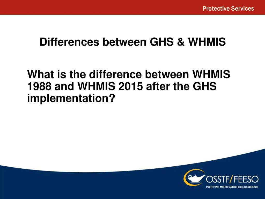 Whmis ppt download differences between ghs whmis buycottarizona Image collections