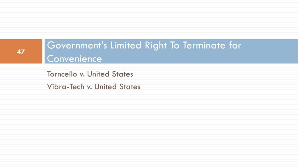 terminate for convenience