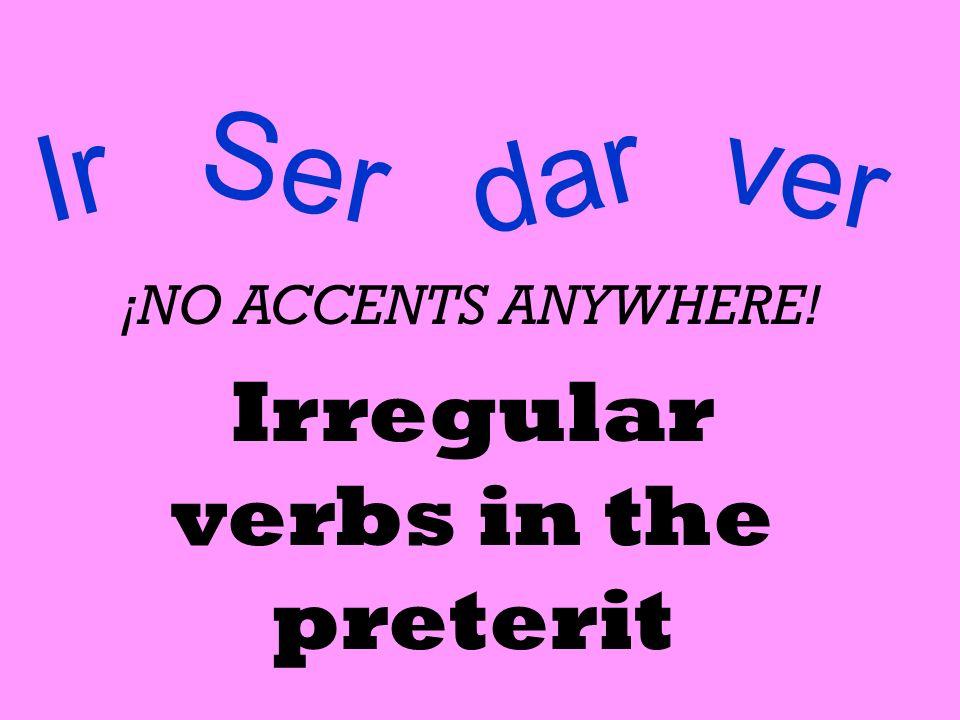 Irregular verbs in the preterit