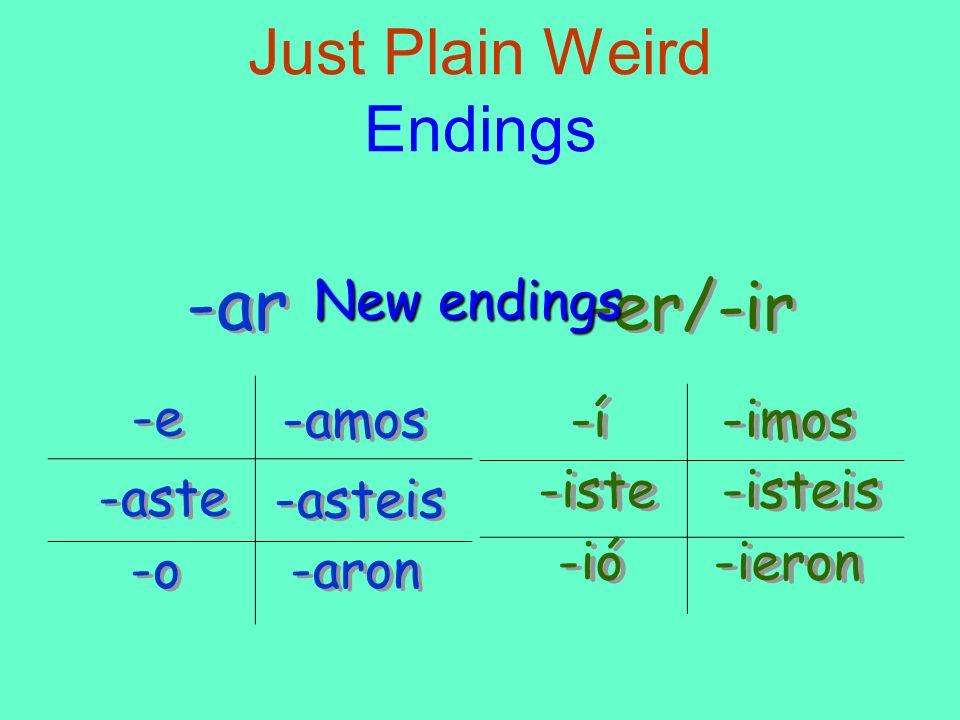 Just Plain Weird Endings