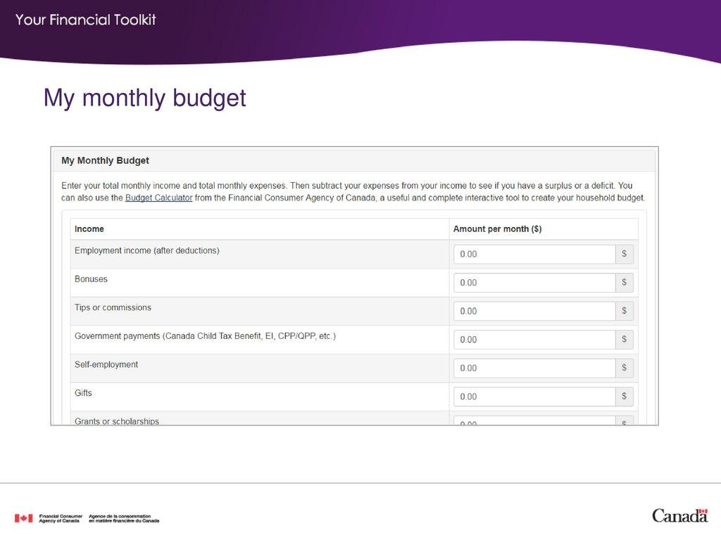 my budget calculator - Yelom.myphonecompany.co