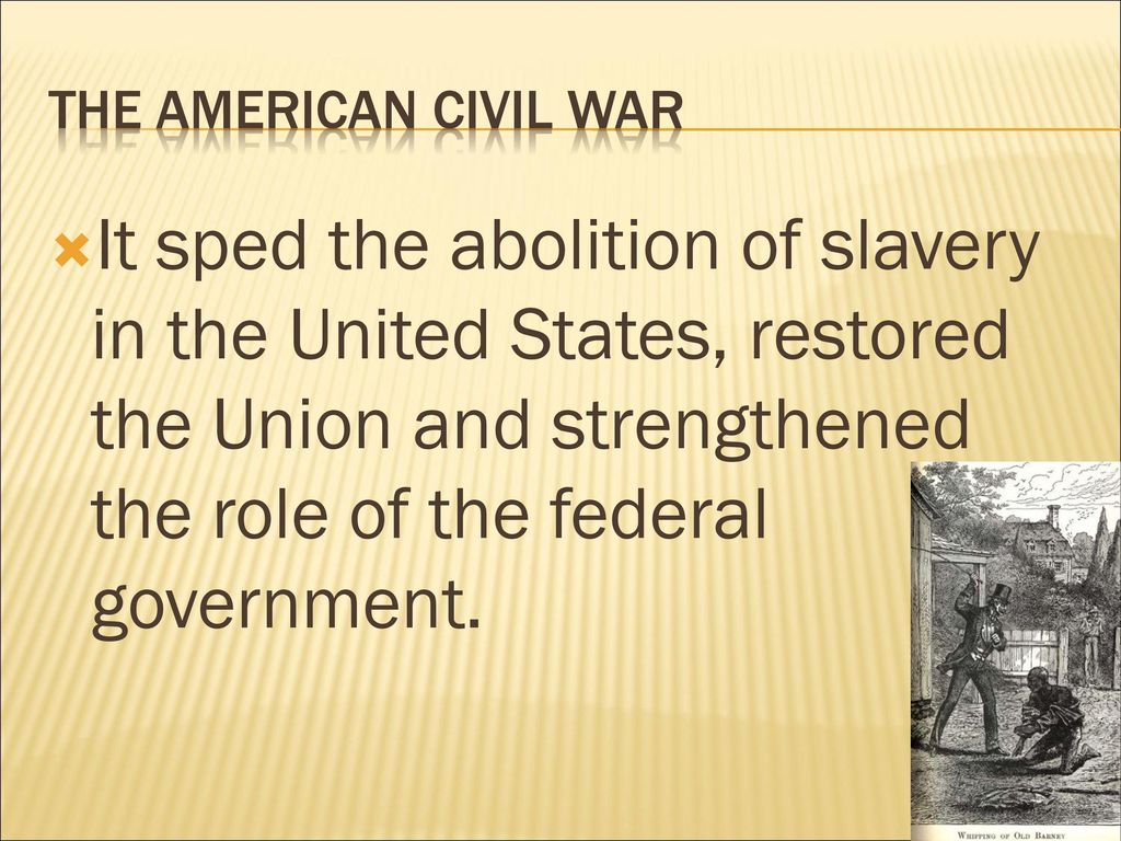 the contribution of the thoughts about slavery on the american civil war A terrible price had to be paid, in a tragic, calamitous civil war, before this new   conflict of visions about the continuing importance of race in american life.