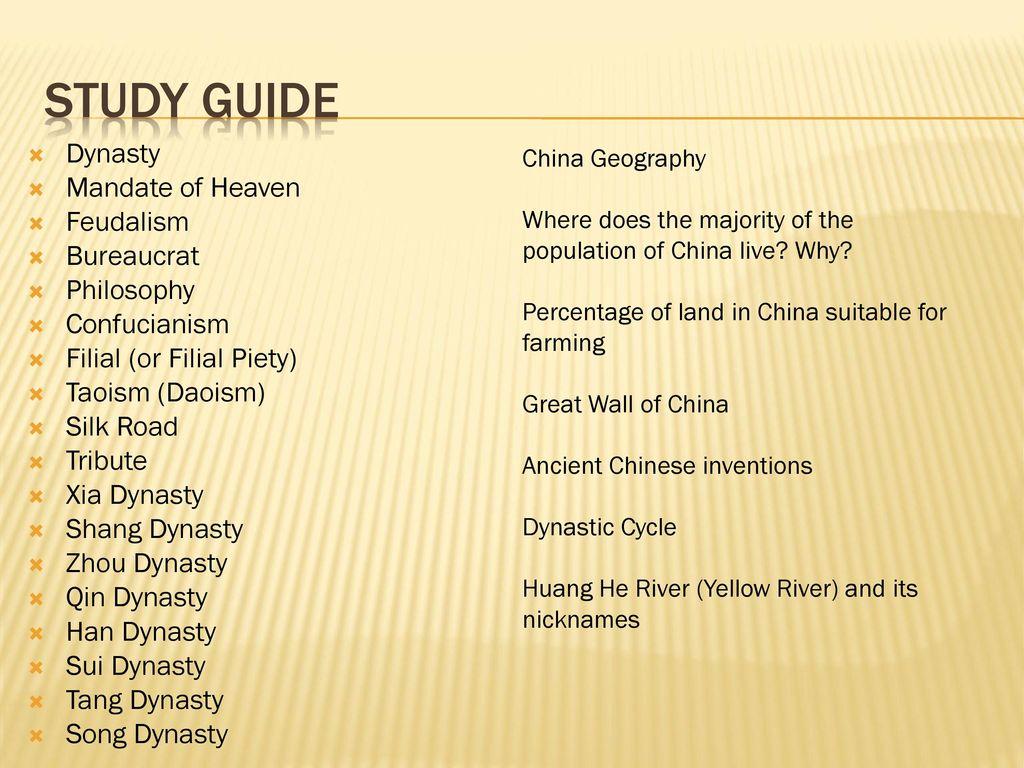 China ppt download study guide dynasty mandate of heaven feudalism bureaucrat philosophy buycottarizona Choice Image
