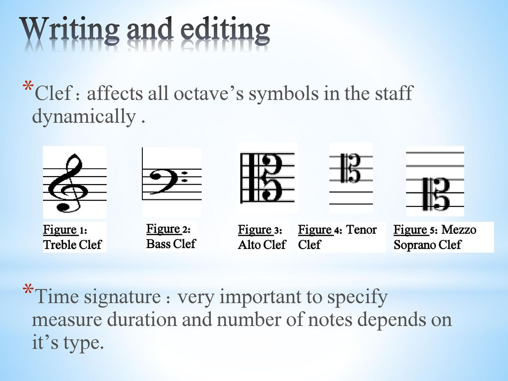 An najah national university ppt download writing and editing clef affects all octaves symbols in the staff dynamically biocorpaavc Choice Image