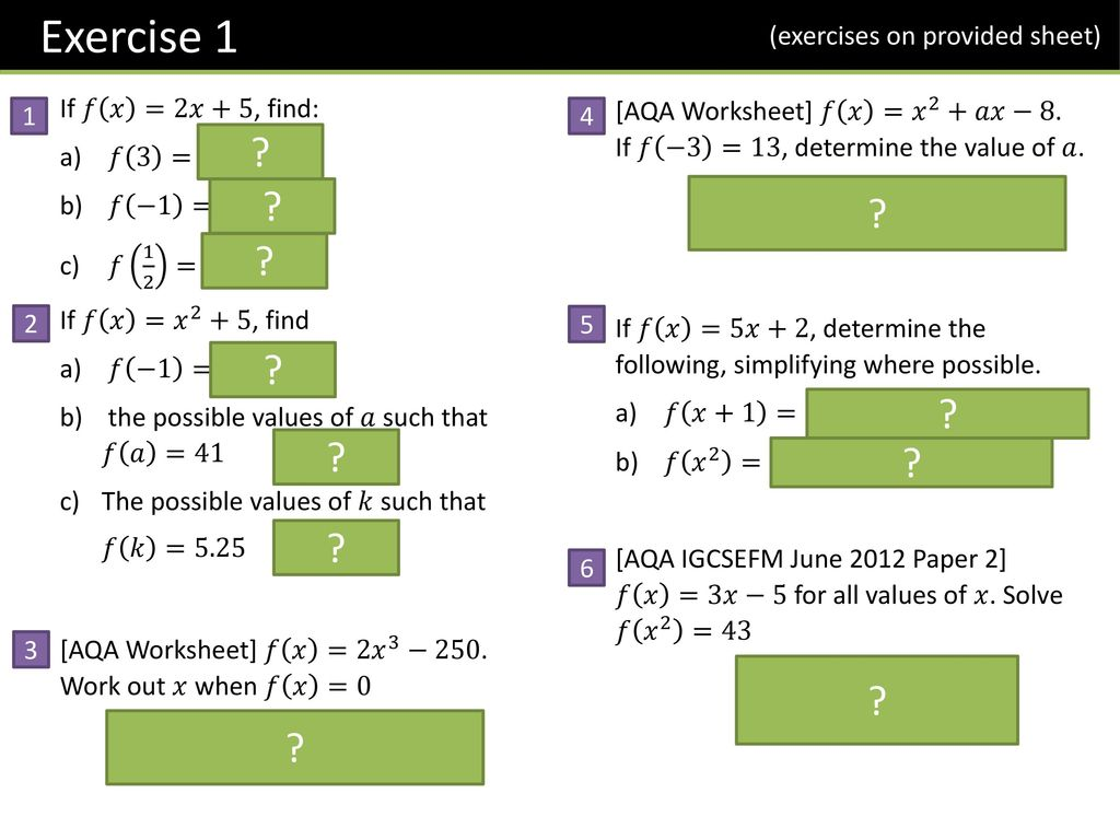 worksheet 8 F 2 Worksheet gcseigcse fm functions ppt download 8 exercise 1