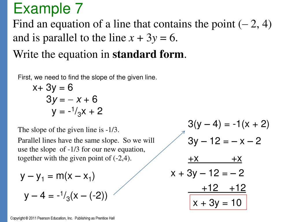 Chapter 3 graphs and functions ppt download example 7 find an equation of a line that contains the point 2 falaconquin