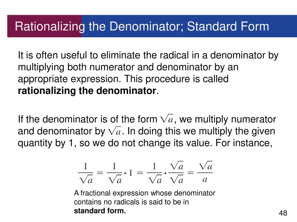 11 real numbers ppt download rationalizing the denominator standard form falaconquin