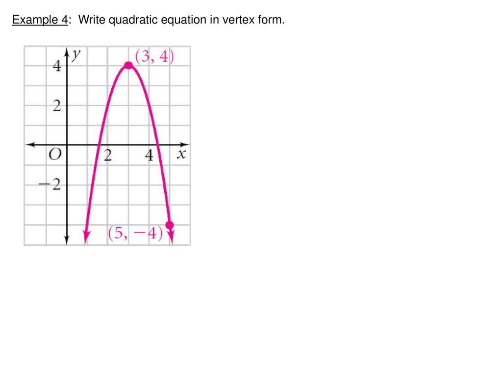 Math 2 warm up 2x2 4x3x 5 3xx 2 x 2x 5 ppt download 19 example 4 write quadratic equation in vertex form falaconquin
