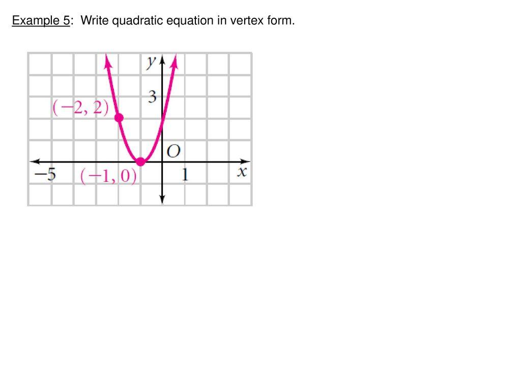 Math 2 warm up 2x2 4x3x 5 3xx 2 x 2x 5 ppt download 20 example 5 write quadratic equation in vertex form falaconquin