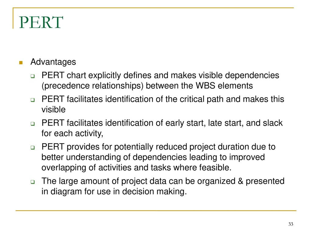 Project scheduling models ppt download 33 pert advantages pert chart nvjuhfo Choice Image