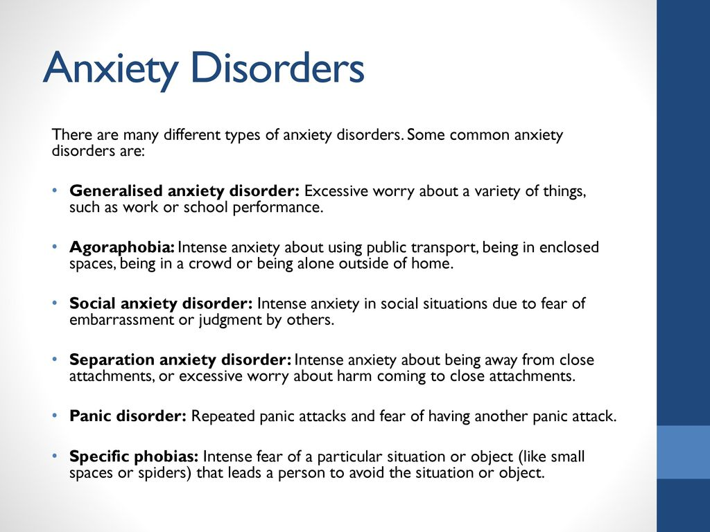 work anxiety disorder