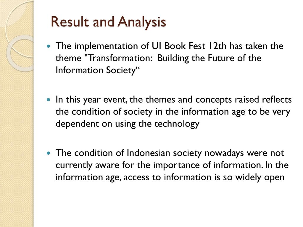 an analysis of the topic of the society in the information age From concrete interpretations to sweeping generalizations of society  three major perspectives in sociology  (the micro level of analysis of small.