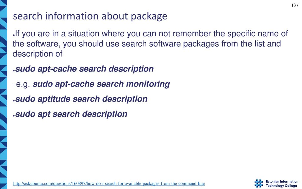13 Search Information About Package