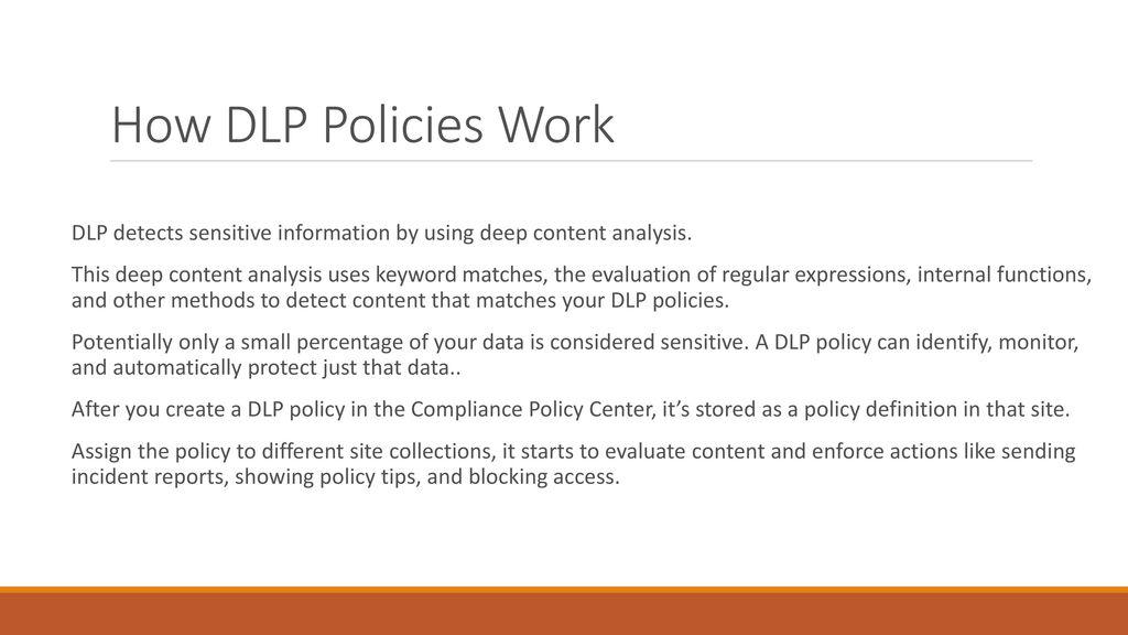 dlp policies