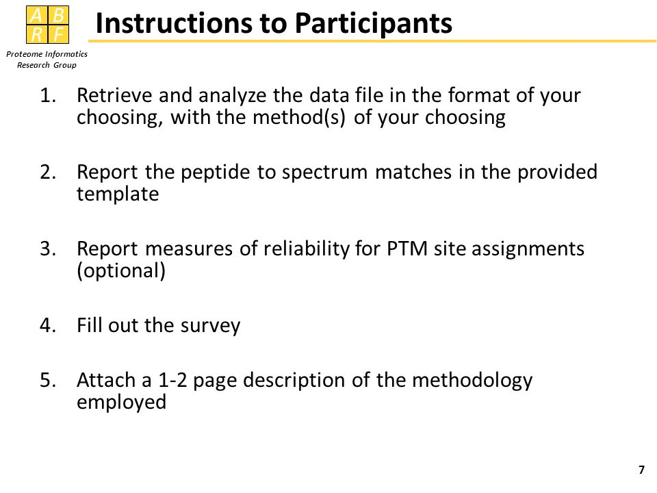 Instructions to Participants
