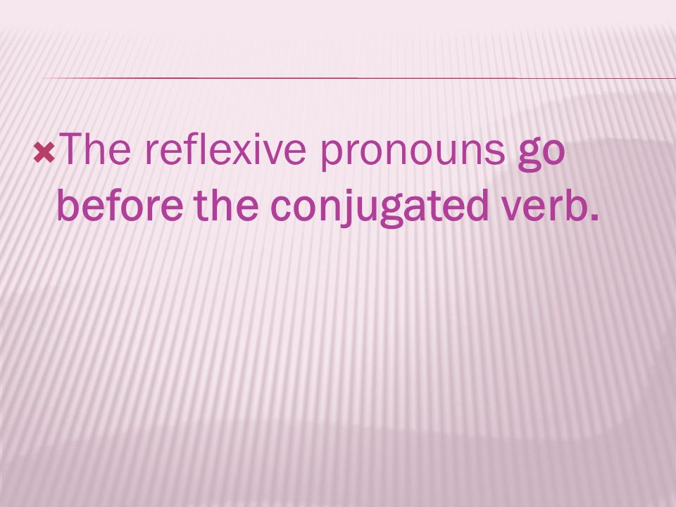 The reflexive pronouns go before the conjugated verb.
