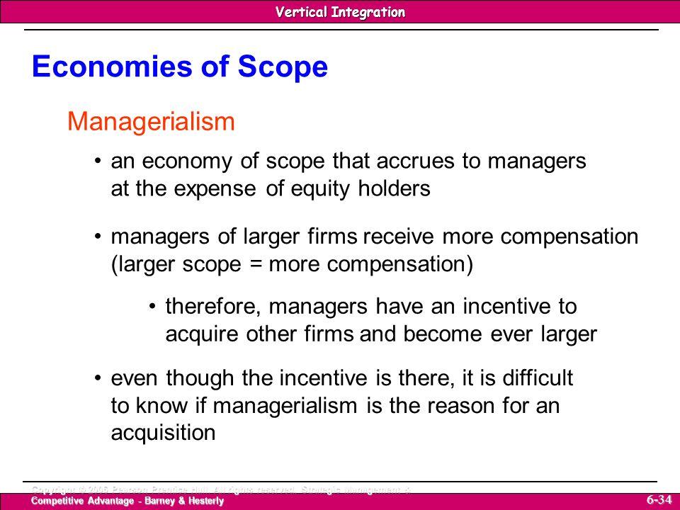 Economies of Scope Managerialism