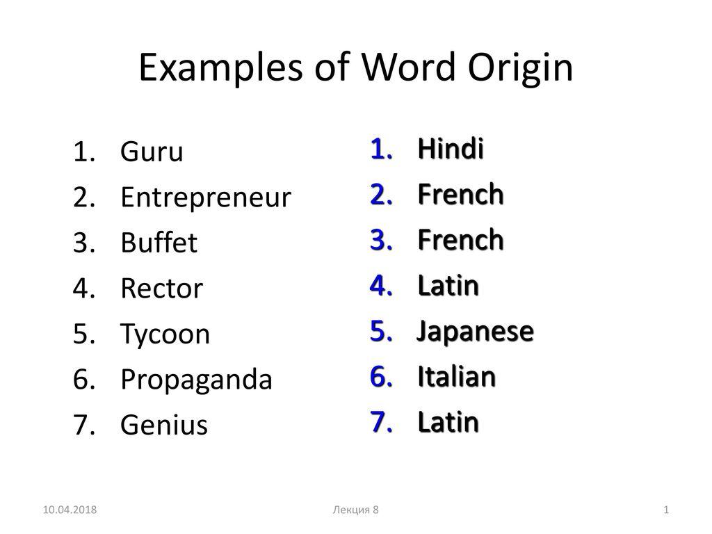 word of origin