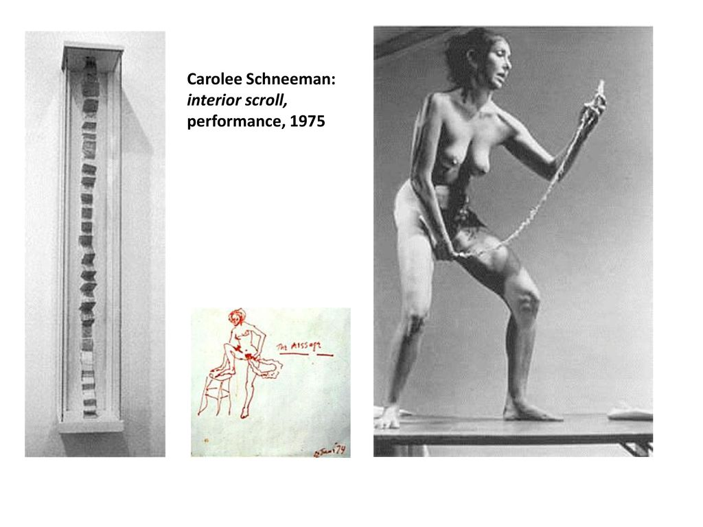 18 Carolee Schneeman: Interior Scroll, Performance, ...