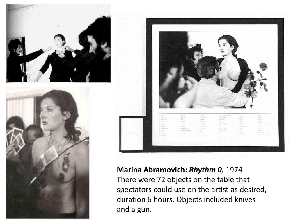 marina abramovic rhythm 0