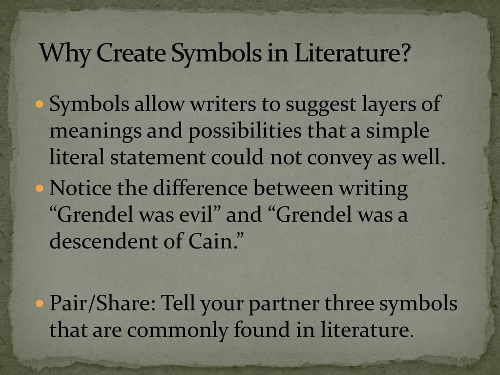 Symbolism and allegory ppt download why create symbols in literature buycottarizona Choice Image